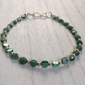 Jewelry - Aventurine Gemstone Silver Bracelet